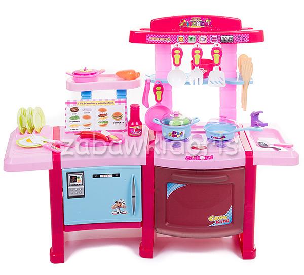 DUŻA KUCHNIA KUCHENKA DLA DZIECI ODGŁOSY GOTOWANIA   -> Kuchnia Dla Dzieci Na Baterie
