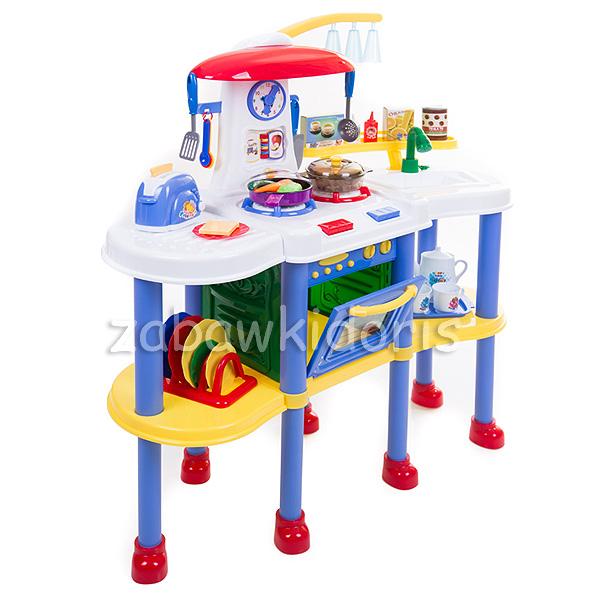 Śliczna kolorowa kuchnia na baterie zachwyci każdego małego kucharza Kryje w   -> Kuchnia Dla Dzieci Odglosy Gotowania